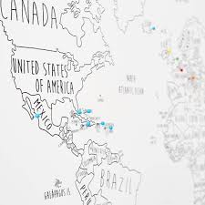 Create A Map With Pins Personalised World Travel Map With Pins By Louisa Elizabeth