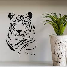 online get cheap wildlife wall murals aliexpress com alibaba group tiger head movable wall sticker wildlife art modern family living room decorative wallpaper mural vinyl stickers