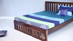 Teak Wood Furniture Online In India Beds Douglas King Size Bed Online In India Wooden Street Youtube