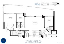 Ola Residences Floor Plan Riva Condo Fort Lauderdale Living Las Olas