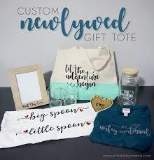 newlywed gift custom newlywed gift tote with cricut artsy fartsy