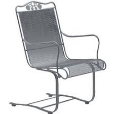 Wrought Iron Patio Chair Brentwood High Back Spring Base Chair Wrought Iron Patio