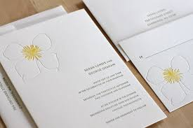 Letterpress Invitations Clematis Letterpress Wedding Invitation U2014 Letterpress Wedding