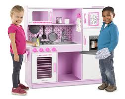 Pretend Kitchen Furniture Amazon Com Melissa U0026 Doug Wooden Chef U0027s Pretend Play Toy Kitchen
