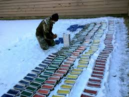 igloo hockey player builds colorful igloo outside of college dorms abc