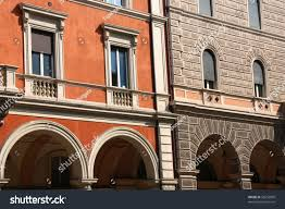 italian architecture bologna italy ornamental stock photo