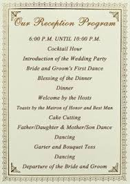 wedding reception program template wedding reception programme program template recent vizarron