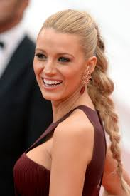 close ups of blake lively u0027s braid ponytail hairstyle from the 2014