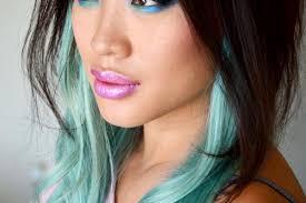 highlights underneath hair 30 pretty blue hairstyles for women pretty designs