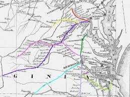 map us railroads 1860 virginia railroads at the start of the civil war