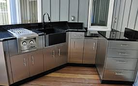 stylish steel kitchen cabinets with amazing stainless metal for