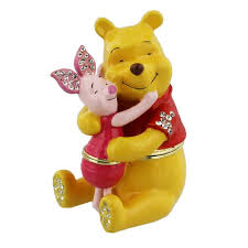 winnie the pooh cake topper disney collectable trinkets present pooh and piglet winnie the