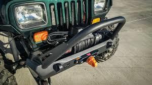 jeep bumper jeep wrangler cj yj tj pyro stubby front bumper flat top stinger