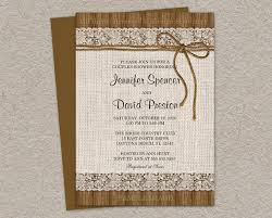 couples shower invitations rustic couples shower invitation with burlap and lace diy