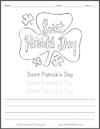 saint patrick u0027s day shamrock coloring page for kids with