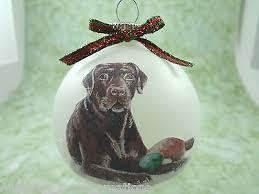 chocolate lab christmas holiday ornament labrador dog doggy pup
