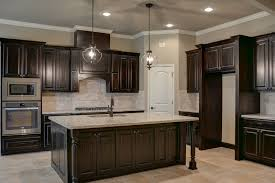 Medium Brown Kitchen Cabinets Black Walnut Stained Knotty Alder Cabinets Kitchens Pinterest