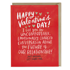 valintine cards awkward dating card emily mcdowell studio