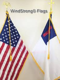Flags And Flagpoles Amazon Com 8 Ft Combo Deluxe U S And Christian Indoor Flag Pole