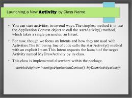startactivity android anatomy of android application