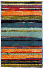 Mohawk Rainbow Rug Area Rugs In Brand Mohawk Pattern Striped Color Multi Color Ebay
