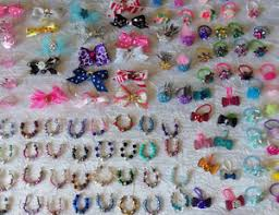 custom hair bows littlest pet shop lps accessories custom 3 necklaces 3