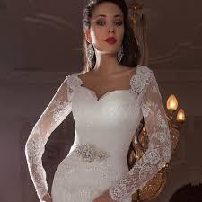 omyw0182 full long sleeve sweetheart neckline mermaid lace wedding