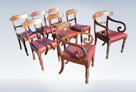 Regency Dining Chairs Mahogany Set Of Genuine Regency Mahogany Dining Chairs