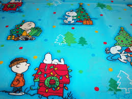 brown christmas snoopy dog house peanunts christmas snoopy dog house brown fabric btfq new