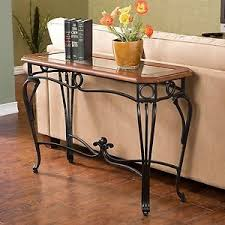 Cherry Wood Sofa Table by Sofa Table Wood Glass Wrought Iron Hallway Console Cherry Finish