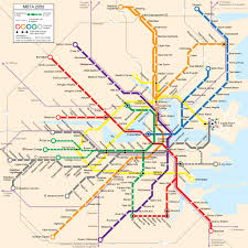 Public Transit Chicago Map by Boston Transit Map Boston Public Transit Map United States Of