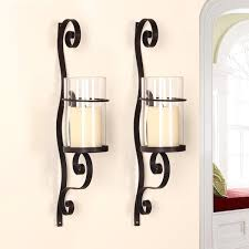 Vertical Wall Sconce Adeco Iron And Glass Vertical Wall Hanging Candle Holder Sconce