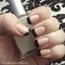 change up a classic french manicure with a different colored tip