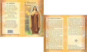Prayer To St Therese The Little Flower - confirmation gifts