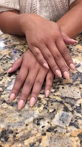 almond shaped natural nails with gel polish yelp