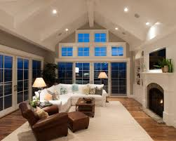 Lighting For Cathedral Ceilings by Cathedral Ceiling Family Room Ideas U0026 Photos Houzz