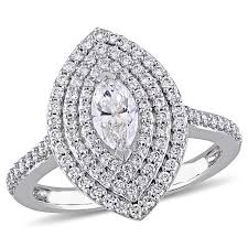 marquise cut diamond ring 14k white gold 99ctw marquise cut diamond halo engagement