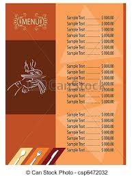 menu card templates menu card template vector illustration search clipart drawings