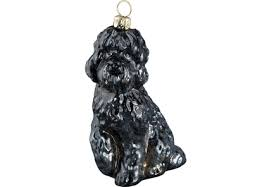 black labradoodle glass ornament by to the world