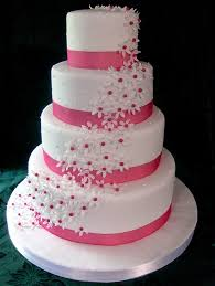 sams club wedding cake 2 tier with blue pink purple and