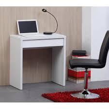 mini bureau ordinateur bureau 110cm blanc et blanc brillant achat vente bureau