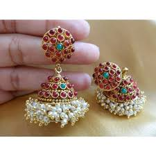 jhumka earrings online shopping 153 best jhumkis images on indian jewelry ethnic