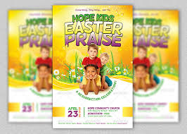 easter cantatas for church kids easter praise church flyer template inspiks market