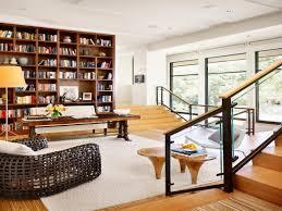 ikea ladder bookshelf modern home library design ideas modern
