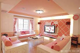 living room pink wall paint ideas pink sofa blue and pink