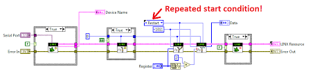 labview makerhub u2022 view topic i2c stop start conditions issue