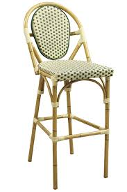 Rattan Bistro Chairs Rattan Bamboo Bistro Aluminum Frame Bar Stools In Beige Green