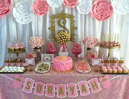 pink baby shower pink and gold baby shower baby shower royalty baby shower