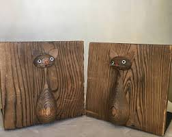 unique bookends for sale vintage cat bookends etsy