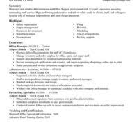 senior office manager resume example displaying professional